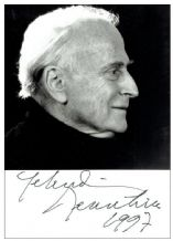 Yehudi Menuhin Autograph Signed Photo